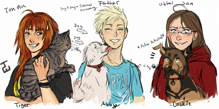 All around me are canine faces by AgentWhiteHawk