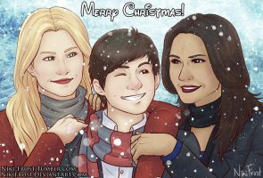 #12daysofSwanQueen A Swan-Mills Christmas by NikiFrost