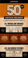 50 Vintage Brushes Set Vol. 3 by JCRuffy