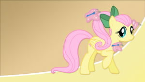 Background - Fluttershy Butterflies by NineCee