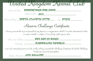 RBK Bed of Roses - Reserve Challenge Certificate # by TheChiefofTime
