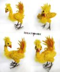 Pose-able Final Fantasy Chocobo Statue by Ideationox