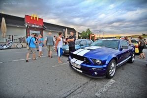 Warm up for a Mustang Sprint by ShadowPhotography