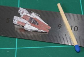 A-Wing - Star Wars miniature by SarienSpiderDroid