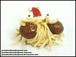 Flying Spaghetti Monster Ornament by GrandmaThunderpants