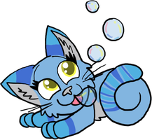 Bubble Kitty Adoptable [CLOSED] by FaithLeafCat