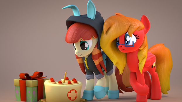 [Blender] Happy Birthday SourceRabbit! by MythicSpeed