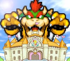 REQUEST - Giant Bowser Attack Peach's Castle by KingAsylus91