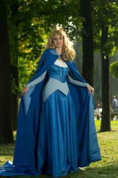 Aurora blue dress cosplay by ayral