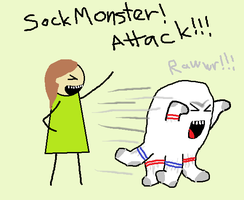 Sock Monster Attack by c10brook