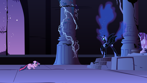 Nightmare Moon Addresses Twilight Sparkle by 90Sigma