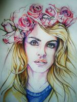 Lana Del Rey- Coloured pencil on paper by michaelovesfaces24