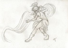 Korra sketch by blindbandit5