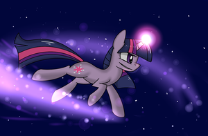 Riding through the night by TheAllyGLaDOS