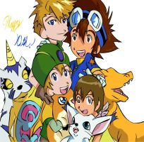 Digimon: Happy 10th old-thangs by Shigerugal