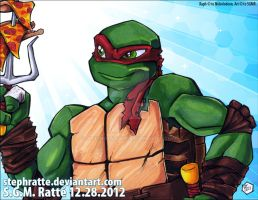 TMNT - :Raph's Pizza Fork: by StephRatte