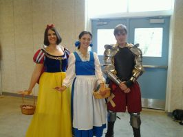 Snow White, Belle and their Knight by AriadneEvans