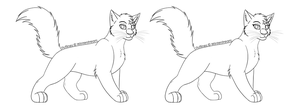 Free Lineart: Cat 7 by Winterstream