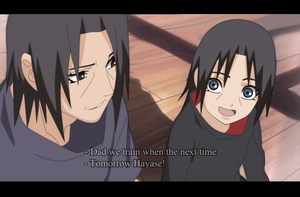 Itachi and Hayase Father and Son by Sarah927
