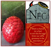 Raffle Giveaway - Fire Dragon Egg! by Nephilims-FC-Shop