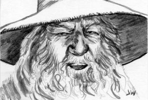 Gandalf Lord of the Rings Sketch Card ACEO by Stungeon