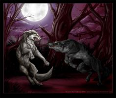Werewolf Fight by Astrocat