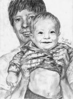 Baby and Father by michaelmdw