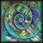 spirale green blue by santosam81