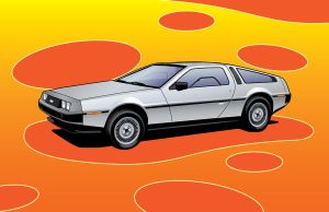 DeLorean DMC Vector by fireforgegrafx