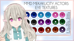[MMD] Mekakucity Actors Eye Texture by LunarCountdown
