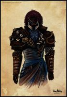 My Guild Wars 2 Character - Watercolor. by AaronMetallion