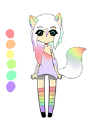 Cute Pastel Cat Custom for UnMasked-Saint by Piyos-Adoptables