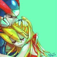 Rockman zero and Ciel by TK31