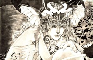 Headdress: Lady Saturn - The Third Eye of Justice by DubuGomdori