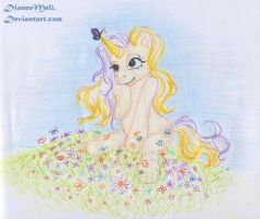 Cutie with a Butterfly by DioneeMeli