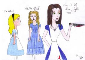 Alice, Alice and Alice by Faye-Raven