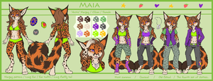 Maia - Reference sheet by Neko-Maya