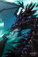 Old Black Dragon by cruzarte