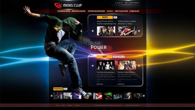 mens club website by is007lam