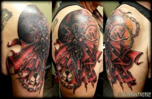 Spawn Tattoo by BrantnerTattoo74