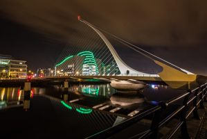 Samuel Beckett Bridge by Wanowicz
