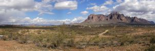 Superstitions Panorama II by freezejeans