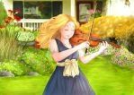 Violin Girl by sitidini