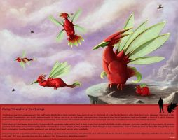 Strawberry Swift wings by kovah