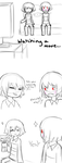 Undertale (Charisk?) Kisses. by ArtisticAnimal101