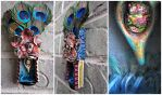 Peacock Talisman~Mixed Media Matchbox by DewdropzGarden