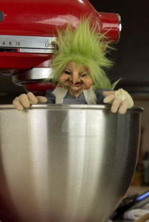 Goblin in the mixer by The-GoblinQueen