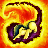 Cyndaquil uses Flame Wheel by Sayuri-Lilly