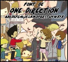 One Direction FONT by BiancaWeasly