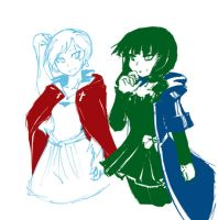BRS RWBY Weiss and Yomi by dan-heron